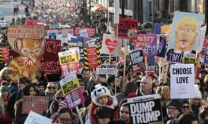 An estimated 100,000 people attended the march in London.