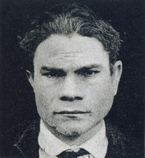 From Cesare Lombroso's 19th-century criminal taxonomy: head shot of a murderer