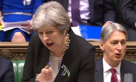 Theresa May at prime minister's questions.