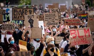 Black Lives Matter rally in Leeds