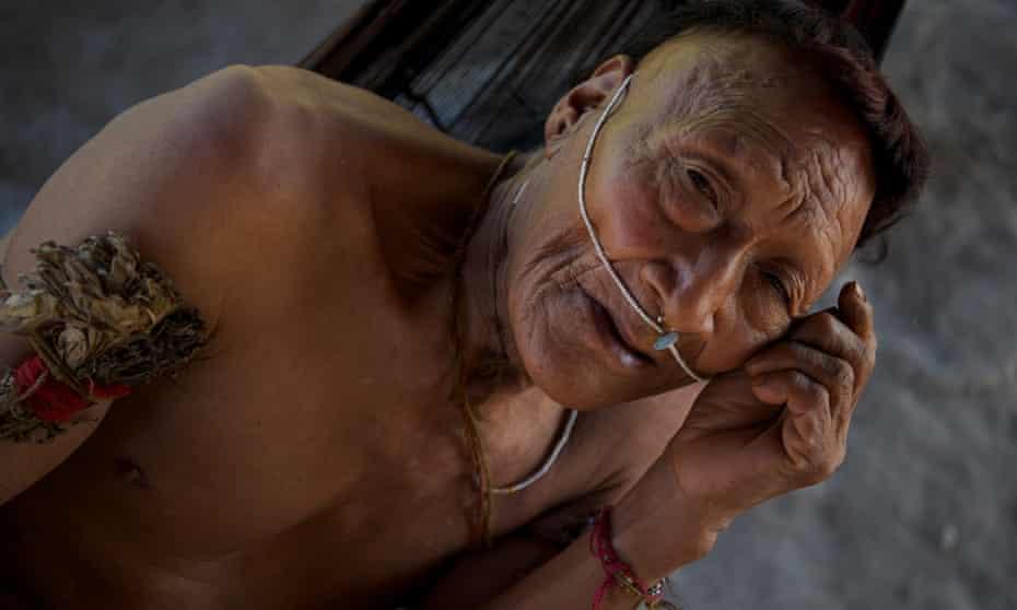 Raya, one of the Nahua elders, in Santa Rosa de Serjali in the remote Peruvian Amazon.
