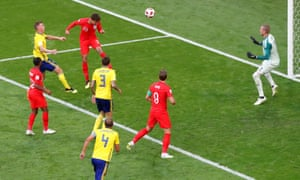 England's Dele Alli scores their second goal.