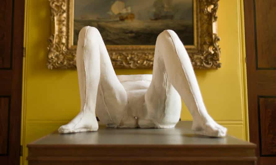 a cast from Sarah Lucas's Power in Woman exhibit at the Sir John Soane's museum in London.