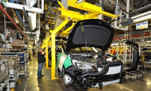The Vauxhall Astra production line at Ellesmere Port, Cheshire.