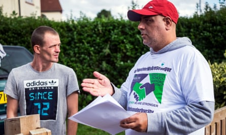 Kulbinder Kooner (right) campaigning for TAs.