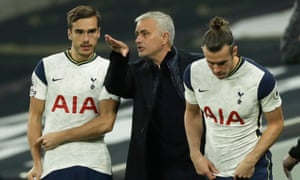 José Mourinho, pictured alongside Harry Winks and Gareth Bale, said: 'We are a very exciting team to watch and that is very important, that is the DNA we want to have.'
