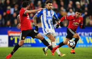 Huddersfield, whose midfielder Danny Williams is here in action against Manchester United, have adapted excellently but could slide into trouble.