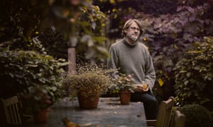 Nigel Slater in has back garden.