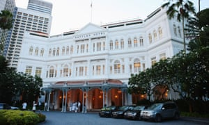 The 'slick, fussy' Raffles in Singapore, one of the hotels frequented by The Blot's protagonist, Alexander