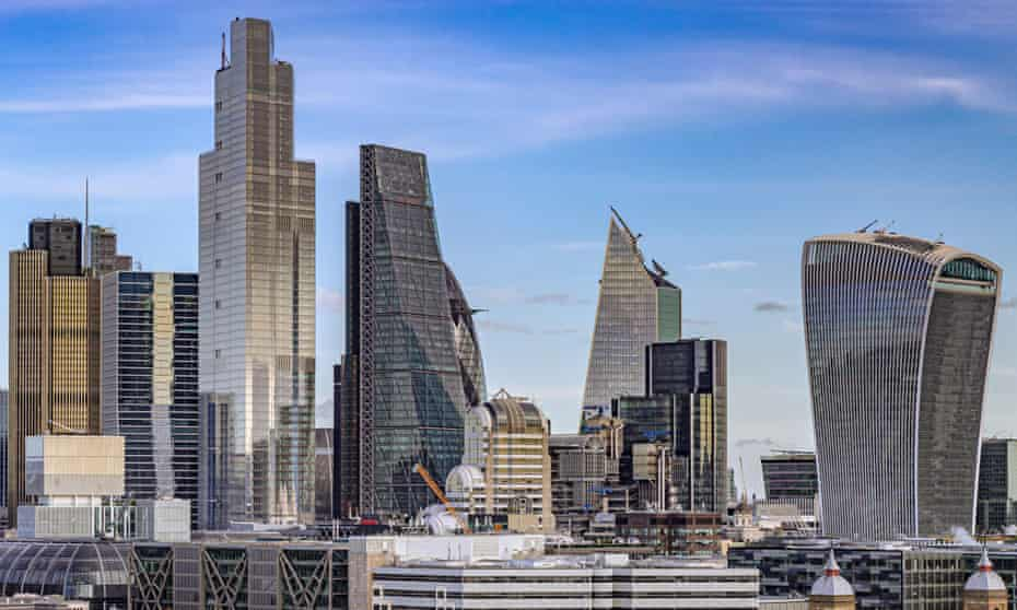 22 Bishopsgate towers over the cluster of skyscrapers in the City of London