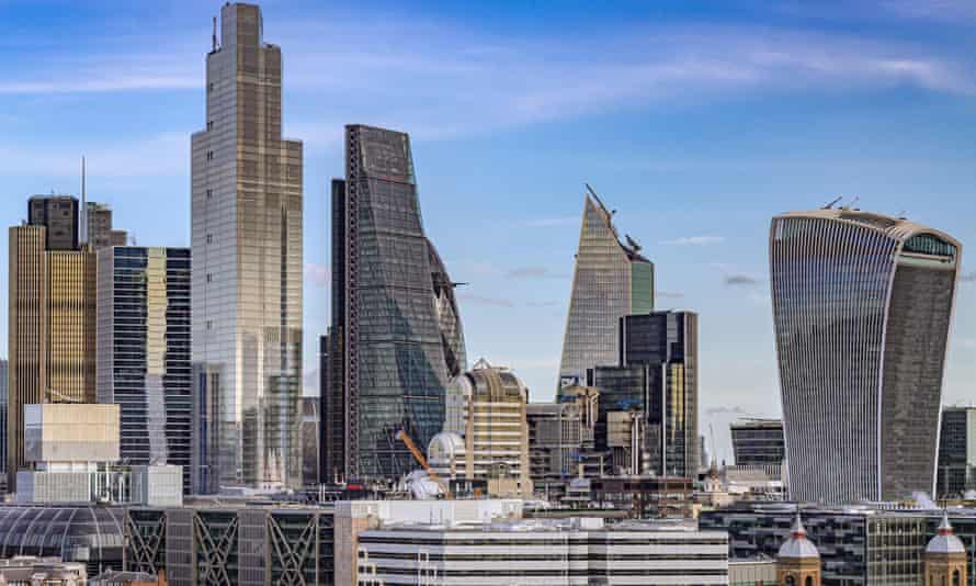 Skyscrapers in the City of London financial district