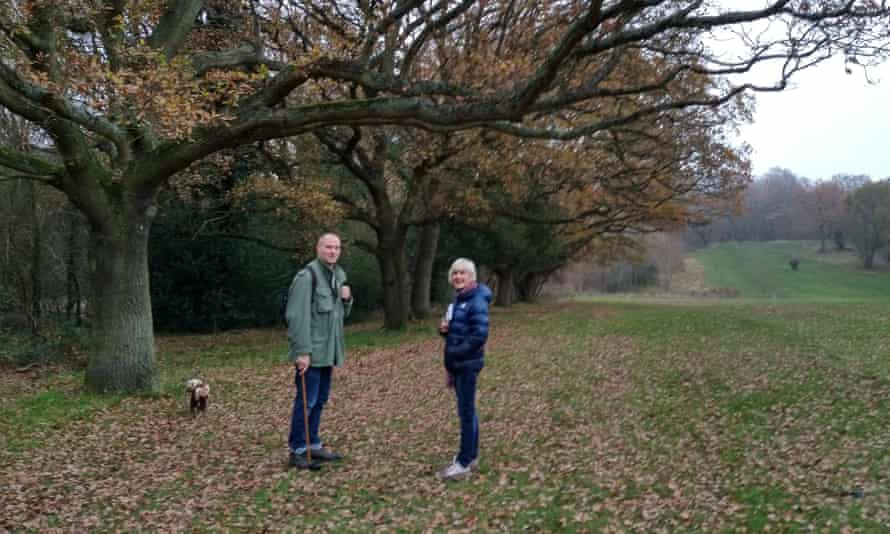 Steve Woolnough with writer Liz Boulter in Epping Forest.