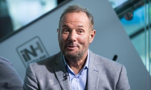 Derek Hatton being interviewed at the AAC arena in Liverpoo