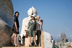 Rebecca Hall, Patricia Clarkson and Scarlett Johansson in Vicky Cristina Barcelona.