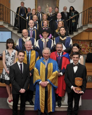 The Royal College of Music's Awards Ceremony March 2016, with (third row from front) Roger Norrington, Steve Reich and Vladimir Jurowski