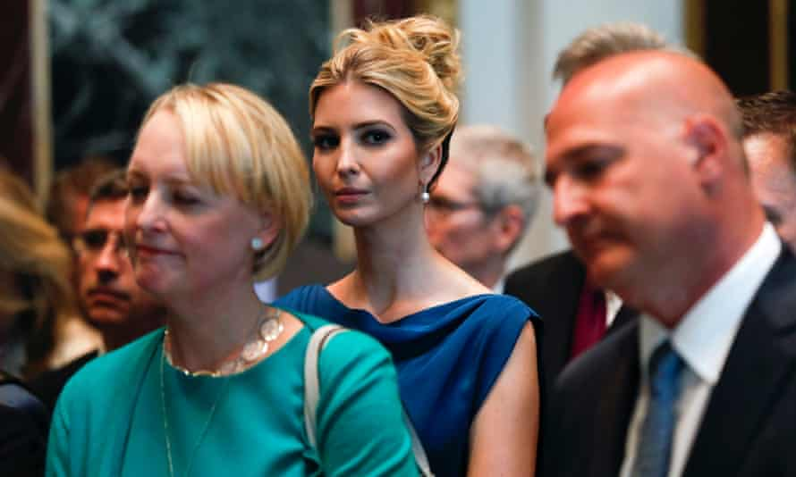 Ivanka Trump listens during a speech in Washington. Her shoe brand has been embroiled in controversy over workers pay and conditions in Chin and Indonesia.