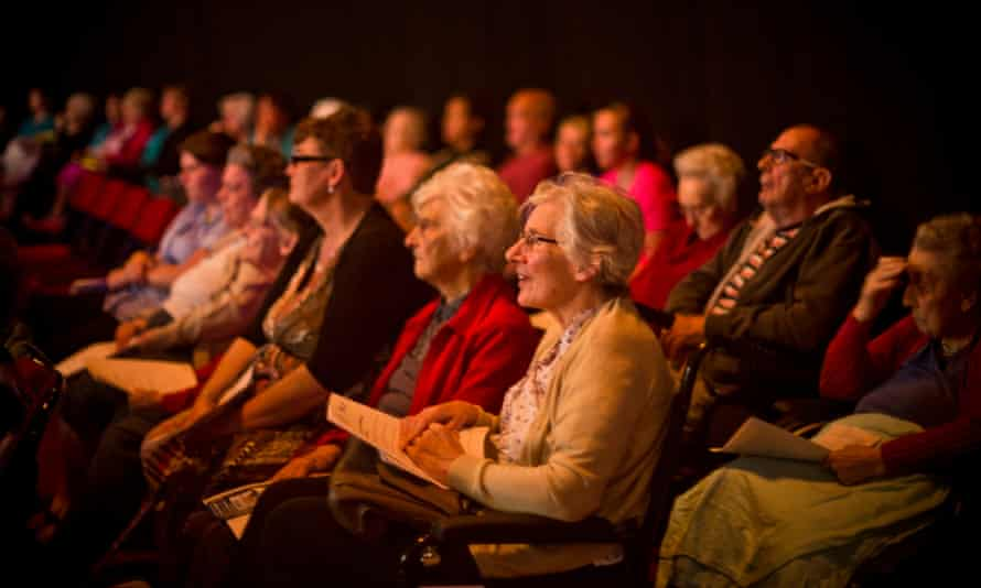 Audience at the Barry Memo arts centre