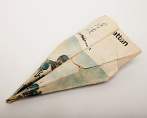 A paper aeroplane from Harry Smith's collection