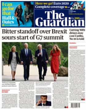 Guardian front page Friday 11 June 2021
