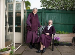 Sister Jessica, left, and Sister Christine at home.