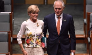 Australia's leader of fashion? Julie Bishop makes her case for the top job walking into question time with Malcolm Turnbull