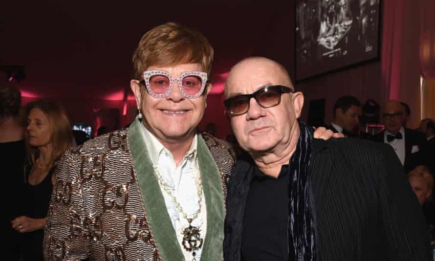 'Bernie never gave up on me': John and Taupin at the 27th Annual Elton John Aids Foundation Academy Awards viewing party, West Hollywood.