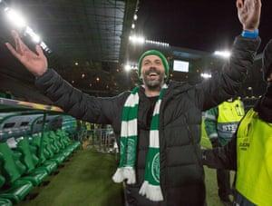 Salzburg manager Marco Rose is enjoying himself.