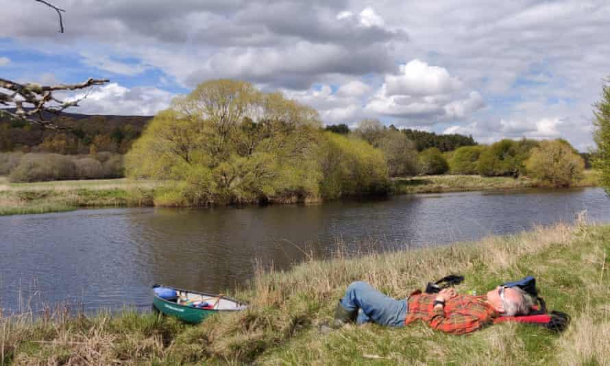 Resting on the banks of the River Spey.