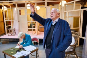 Julian Glover, who plays Grand Maester Pycelle, is in rehearsals for Tennessee Williams' The Night of the Iguana at the Noël Coward theatre in London.