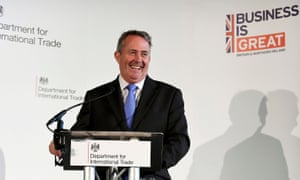Liam Fox, the trade secretary, on Thursday.