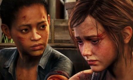 Ellie, a la derecha, con Riley en The Last of Us: Left Behind.