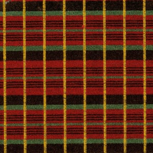 The classic tartan design for the Routemaster bus which hit the streets in 1959