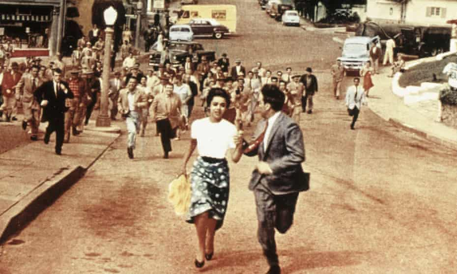 Cold war calamity … publicity still for Invasion of the Body Snatchers, released in 1956.