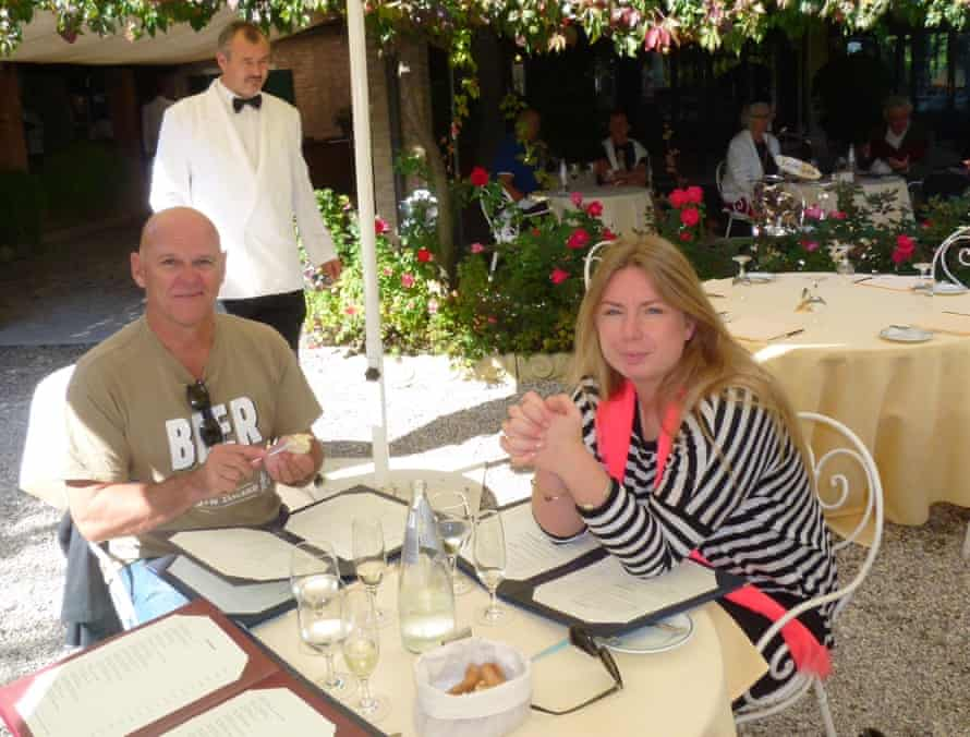 Matthew Fort's friend, Rory, and daughter, Lois, at Locando Cipriani, Venice