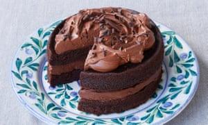 Rich chocolate buttermilk cake.