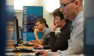 Staff at Barclays' PPI claims processing centre in Poole, Dorset.