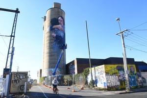 A mural of Jacinda Ardern in Melbourne, Australia