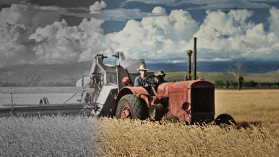 A still from the second series of SBS's four-part recolourisation documentary, Australia in Colour