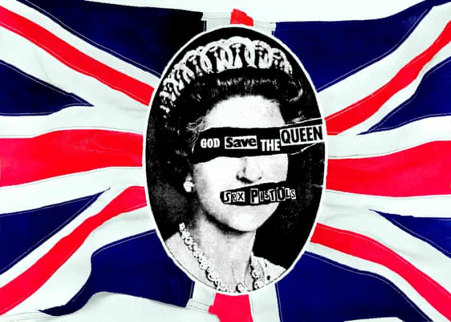 A poster for the Sex Pistols 1977 single God Save the Queen.