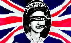 Reid's 1977 artwork for the Sex Pistols single God Save the Queen.