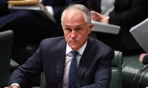 Australian prime minister Malcolm Turnbull during question time on Monday.