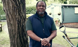 Lucian Msamati as Wilfred in Playing Sandwiches.