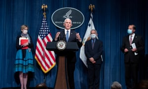 Mike Pence participates in a White House coronavirus taskforce news briefing