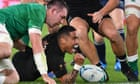 New Zealand thrash Ireland to set up World Cup semi-final with England
