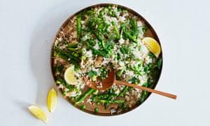 Meera Sodha's asparagus, fennel and pea pilau.
