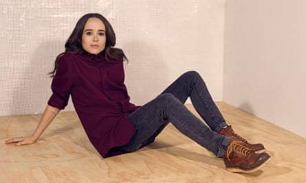 'The spirit of love is what wins out in the end': Ellen Page wears shirt by Cos; jeans by AG; and boots by Dr Marten.