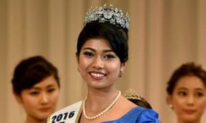 Priyanka Yoshikawa after winning the Miss World Japan title.