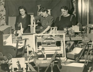 Toys for wartime nurseries made by group at Scots Hill Court, Croxley Green, Rickmansworth, Hertfordshire, 1941
