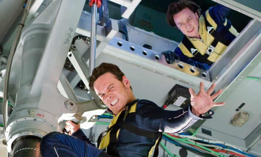 James McAvoy with Michael Fassbender in X-Men: First Class (2011)