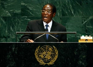2007: Mugabe addresses the 62nd United Nations general assembly in New York on 26 September